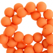 6mm acrylic beads matt Vibrant orange