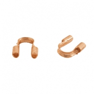 DQ metal findings wire guardian / wire protector 5mm (Ø0.69mm) Rose gold (nickel free)