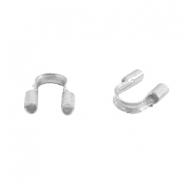 DQ metal findings wire guardian / wire protector 5mm (Ø0.69mm) Silver (nickel free)