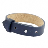 Cuoio bracelets leather 15mm for 20mm cabochon Dark midnight blue
