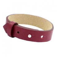 Cuoio bracelets leather 15mm for 20mm cabochon Tawny port red