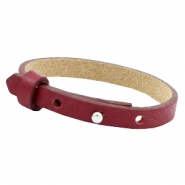 Cuoio bracelets leather 8 mm for 12mm cabochon Tawny port red