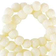 Sparkling beads 6mm Ivory Yellow