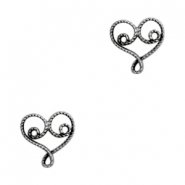 Charms TQ metal Bohemian heart Antique Silver