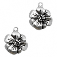 Charms TQ metal flower Antique Silver