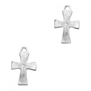 Charms TQ metal cross Antique Silver