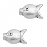 Beads TQ metal fish Antique Silver