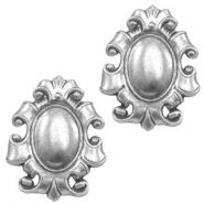 Findings TQ metal Baroque style Antique Silver