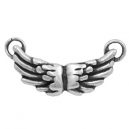 Charms TQ metal connector wings Antique Silver