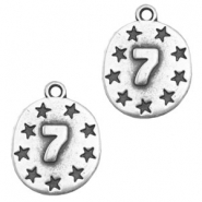 Charms TQ metal 7 stars Antique Silver