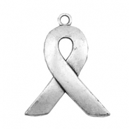 Charms TQ metal Awareness ribbon Antique Silver