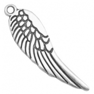 Charms TQ metal angel wing Antique Silver