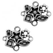 Charms TQ metal connector/setting for different rhinestones Antique Silver