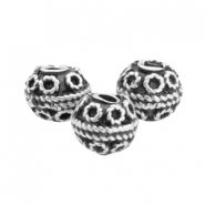 Beads TQ metal deco ball 8mm Antique Silver