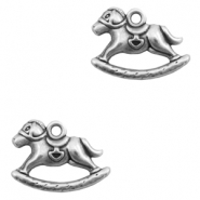 Charms TQ metal rocking horse Antique Silver