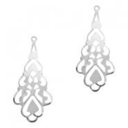 Charms TQ metal Baroque style drop Antique Silver