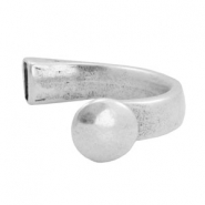 Findings TQ metal bracelet with knob Antique Silver