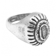 Findings TQ metal Ring Antique Silver