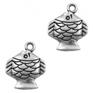 Charms TQ metal fish Antique Silver