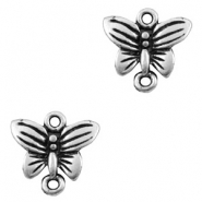 Charms TQ metal connector butterfly Antique Silver