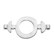 Charms TQ metal connector ring 30mm Antique Silver