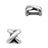 Findings TQ metal slider X Antique Silver