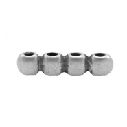 Findings TQ metal connector/spacer 4 cubes Antique Silver