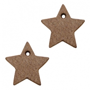 DQ leather charms star Chocolate Brown