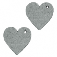 DQ leather charms heart Grey