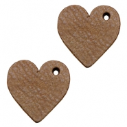 DQ leather charms heart Chocolate Brown