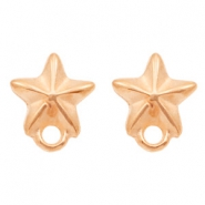 DQ metal findings earpin starfish with loop Rose Gold (nickel free)