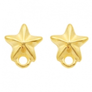 DQ metal findings earpin starfish with loop Gold (nickel free)