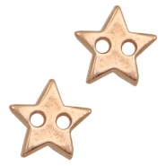 DQ metal findings connector star Rose Gold (nickel free)