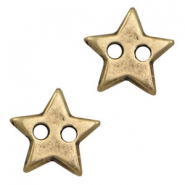 DQ metal findings connector star Antique Bronze (nickel free)
