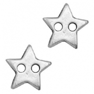 DQ metal findings connector star Antique Silver (nickel free)