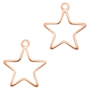 DQ metal charms Star Rose Gold (nickel free)