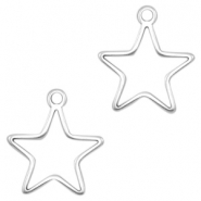 DQ metal charms Star Antique Silver (nickel free)