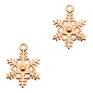 DQ metal charms snowflake Rose Gold (nickel free)