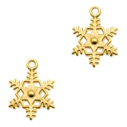 DQ metal charms snowflake Gold (nickel free)