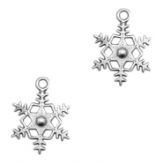 DQ metal charms snowflake Antique Silver (nickel free)