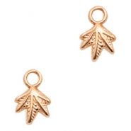 DQ metal charms leaf Rose Gold (nickel free)