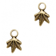 DQ metal charms leaf Antique Bronze (nickel free)