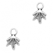 DQ metal charms leaf Antique Silver (nickel free)