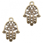 DQ metal charms Hamsa hand Antique Bronze (nickel free)