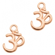 DQ metal charms Ohm Rose Gold (nickel free)