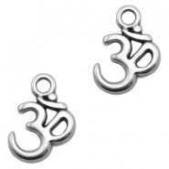 DQ metal charms Ohm Antique Silver (nickel free)