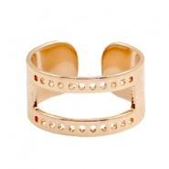 DQ metal findings base ring ( for macramé string) Rose Gold (nickel free)