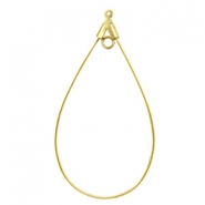DQ Metal findings dropshaped charm with 2 loops Gold (nickel free)