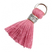 Tassels Ibiza style 1.8cm Silver-Antique Pink