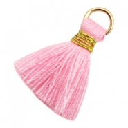 Tassels Ibiza style 1.8cm Gold-Pink